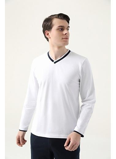 D'S Damat Pijama Takım Beyaz